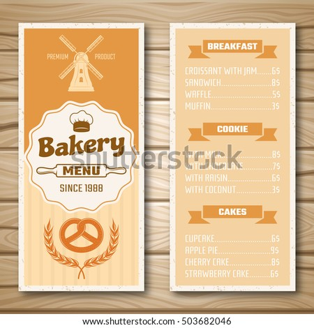 Bakery Menu Stock Images, Royalty-Free Images & Vectors | Shutterstock