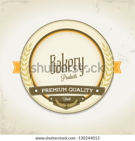 Bakery vintage card - stock vector