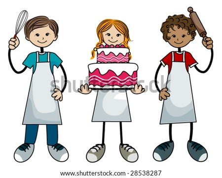 Baking Kids - Vector