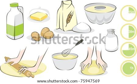 Baking set - stock vector