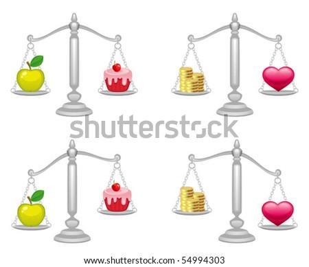 balance - stock vector