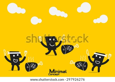 Balance Demand and Supply - stock vector