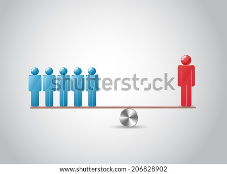 Balance men - stock vector