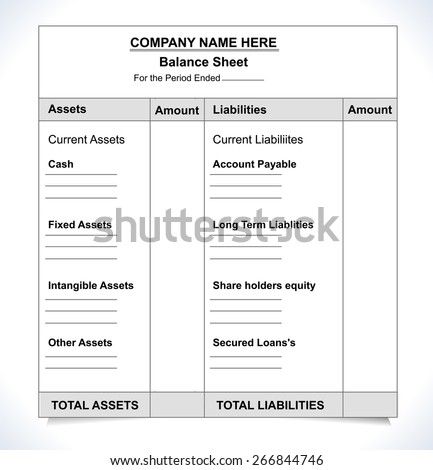 Balance Sheet Stock Images RoyaltyFree Images  Vectors
