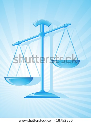Balance, vector illustration, EPS file included - stock vector