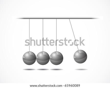 Balancing balls Newton's cradle - stock vector