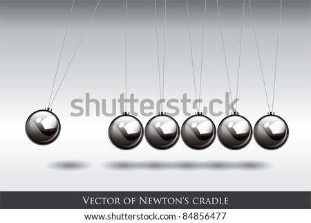 Balancing balls Newton's cradle Vector - stock vector