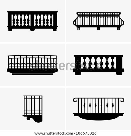 Balconies - stock vector