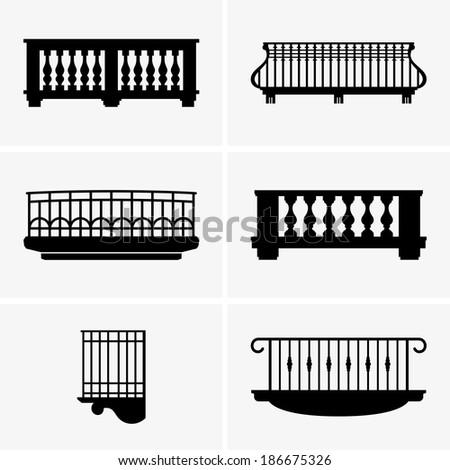 Balconies - stock vector
