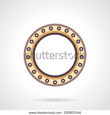 Ball bearing colored flat style vector icon. Mechanical components and parts. Design symbols for website and business. - stock vector
