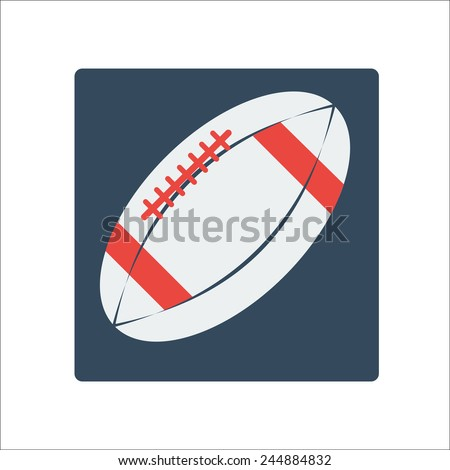 Ball for American Football. Vector Illustration - stock vector