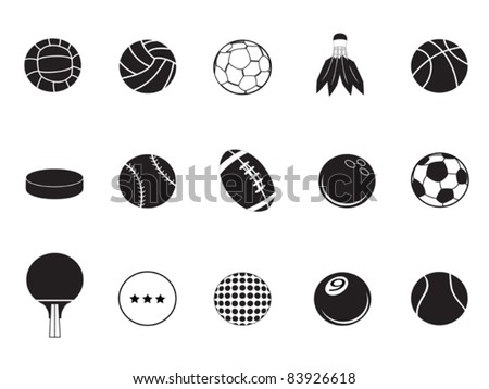 ball icons collection - stock vector