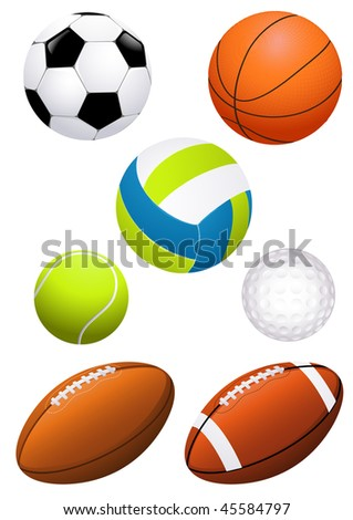 Ball set, vector illustration - stock vector