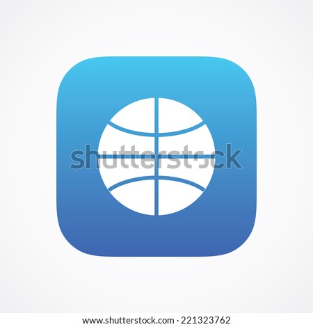 Ball Sport Basketball sign pictogram. Vector symbol icon. Simple flat metro design style. ESP10