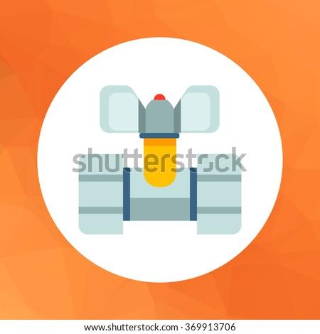 Ball valve icon - stock vector