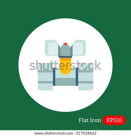 Ball valve icon, water faucet, spigot - stock vector