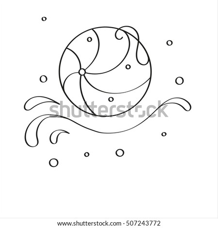 Ball Vector Design Of Beach Floating On Waves