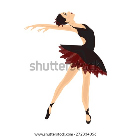 Balleerina in black with red dress