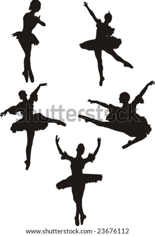 ballerina - stock vector