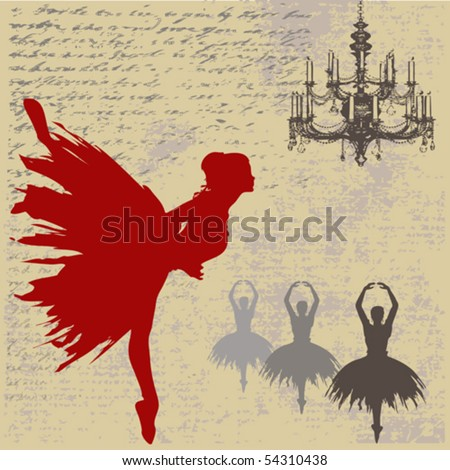 Ballerina Background - stock vector