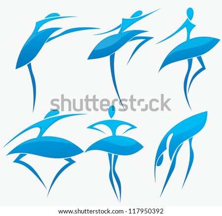 ballet and dance, vector collection of active life - stock vector