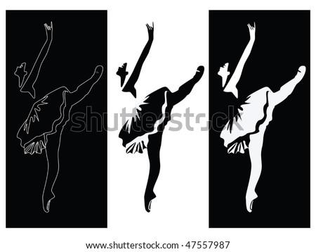 Ballet dancer banners vector - stock vector
