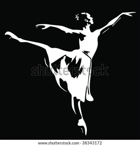 Ballet dancer vector - stock vector