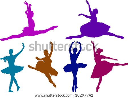 ballet girls - stock vector