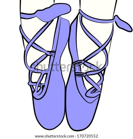 Ballet shoes  - stock vector