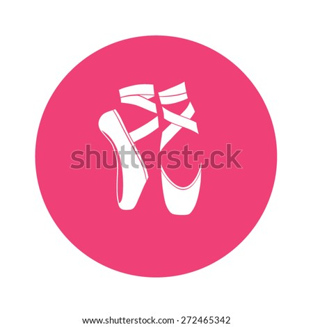 Ballet shoes. Vector illustration. - stock vector