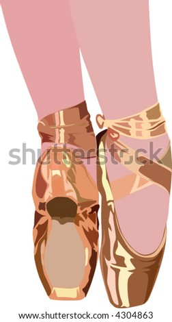 Ballet Slippers - stock vector
