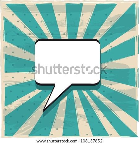 ballon text over grunge background, comic. vector - stock vector