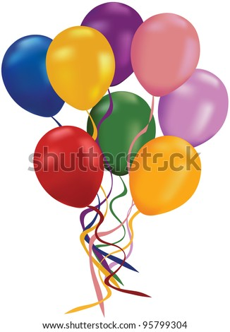 balloon - stock vector