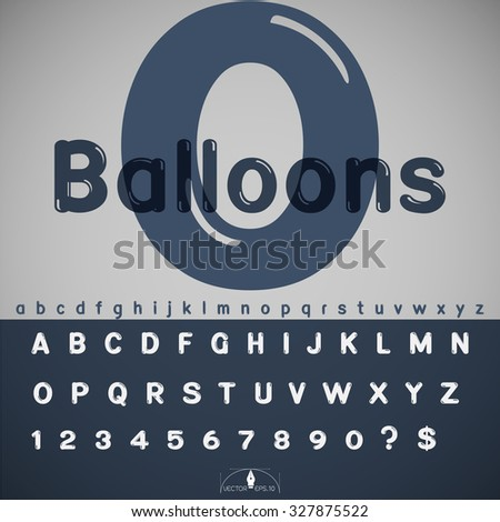 Balloon alphabet vector illustration - stock vector