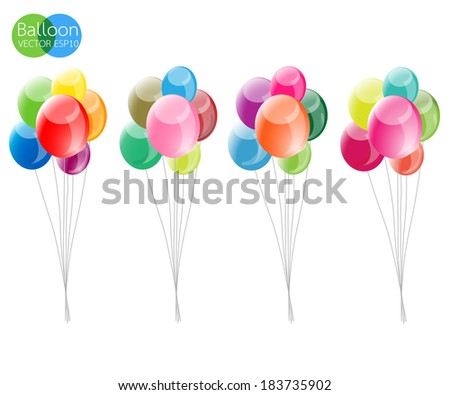 Balloon colorful vector illustration - stock vector
