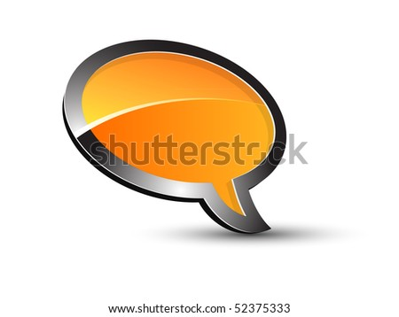 Balloon conversation - stock vector