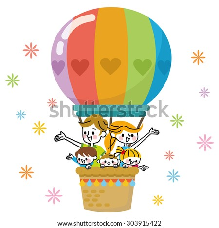 Balloon family - stock vector
