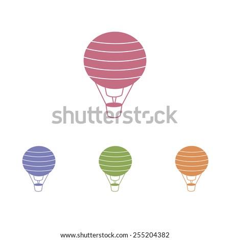 Balloon icons - stock vector