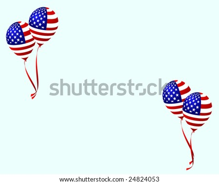 Balloon. Independence day. - stock vector