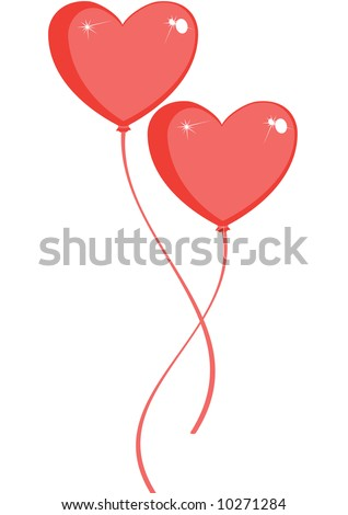 balloon red on a white background, vector CS3