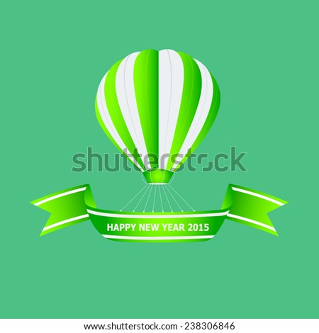 Balloon welcome the Happy New Year 2015 - stock vector