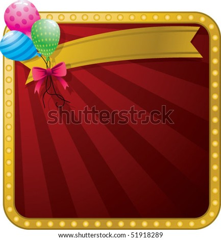 balloon with celebration background - stock vector