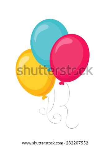 balloons - stock vector