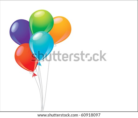 balloons - stock vector