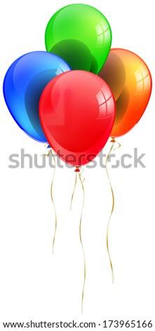 balloons abstract vector illustration isolated eps 10 / Balloons - stock vector