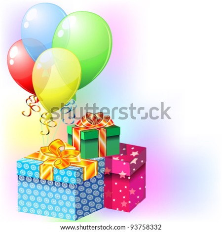 balloons gifts stock vector royalty free 93758332 shutterstock