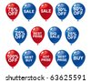 Balloons and sale concept - stock vector