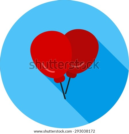 Balloons, decoration,party icon vector image.Can also be used for christmas, celebrations, observances and holidays. Suitable for use on web apps, mobile apps and print media.