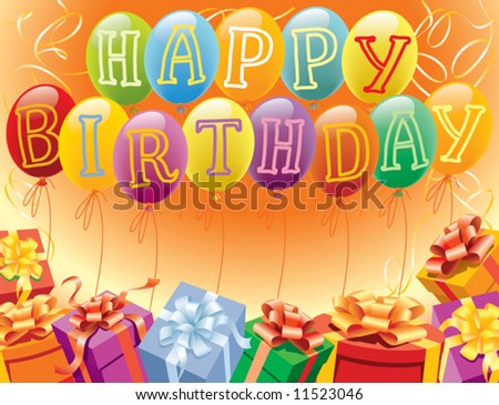 Balloons decoration ready for birthday and party - stock vector