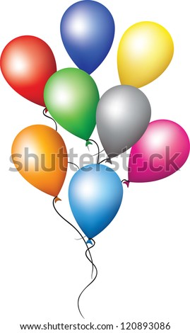 Balloons for holiday decoration. happy birthday party